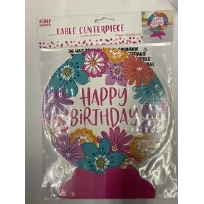 Pretty Petals Birthday Table Centerpiece