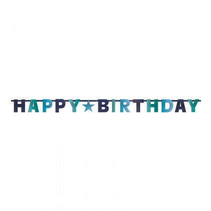 Birthday Accessories Blues Letter Banner - Foil
