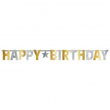 Birthday Accessories n Gold Giant Letter Banner