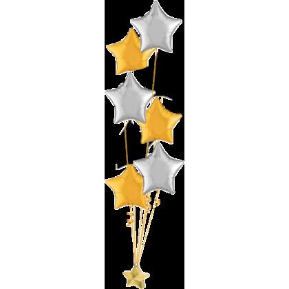 Balloon Centrepiece (9 Foil)